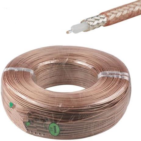 200 Feet RG58 Single Copper Braid Shielded RF Coaxial Cable