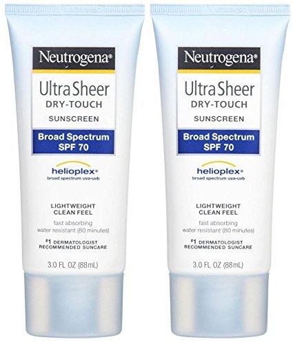 - Neutrogena Ultra Sheer Broad Spectrum Sunscreen SPF 70-3 oz - 2 pk