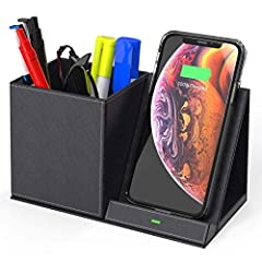 """""""Excellent Craftsmanship. Fashionably Designed. Brilliant Products."""" – Brilliest.  Compatible Devices for Charging Station [Fast Charging] 5W/5V/1A – iPhone 11/XS/XS MAX/XR/X/8/8 PLUS [Fast Charging] 10W/9V/1.1A – Samsung Galaxy S10/S9 Plus/S..."""