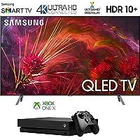 "Samsung QN75Q8FNB 75"" Q8FN QLED Smart 4K UHD TV (2018 Model) with Microsoft Xbox One X 1TB Console Bundle"