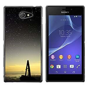 The Swing y los cielos - Metal de aluminio y de plástico duro Caja del teléfono - Negro - Sony Xperia M2