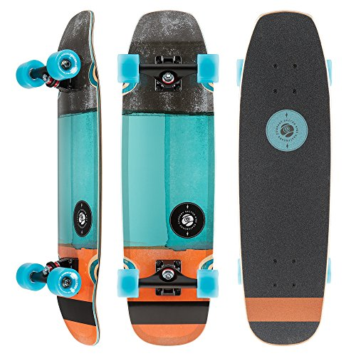 Bamboo Shark - Sector 9 Session Sand Shark 39 Inch Maple Top Mount Longboard for Cruising, Commuting, and Skateparks, Blue
