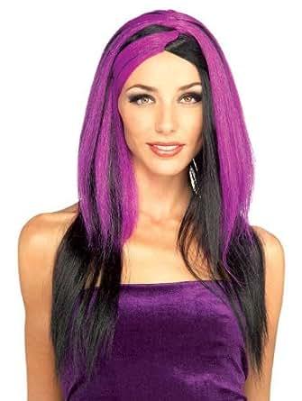 Amazon.com: Rubie's Miss Sinister Wig, Black/Purple, One ...