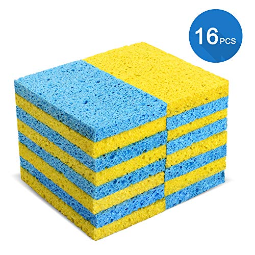 Cleaning Scrub Sponges 16 Pcs Magic Non-Scratch Multi-Use Dish Wash Sponges Cleaning Power for Kitchen Bathroom Walls Car Masthome
