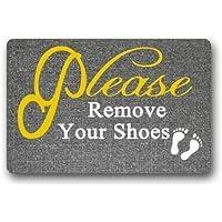 """Custom Machine-Washable Door Mat Please Remove Your Shoes Indoor/Outdoor Doormat(1) (23.6""""x15.7"""" L x W)"""