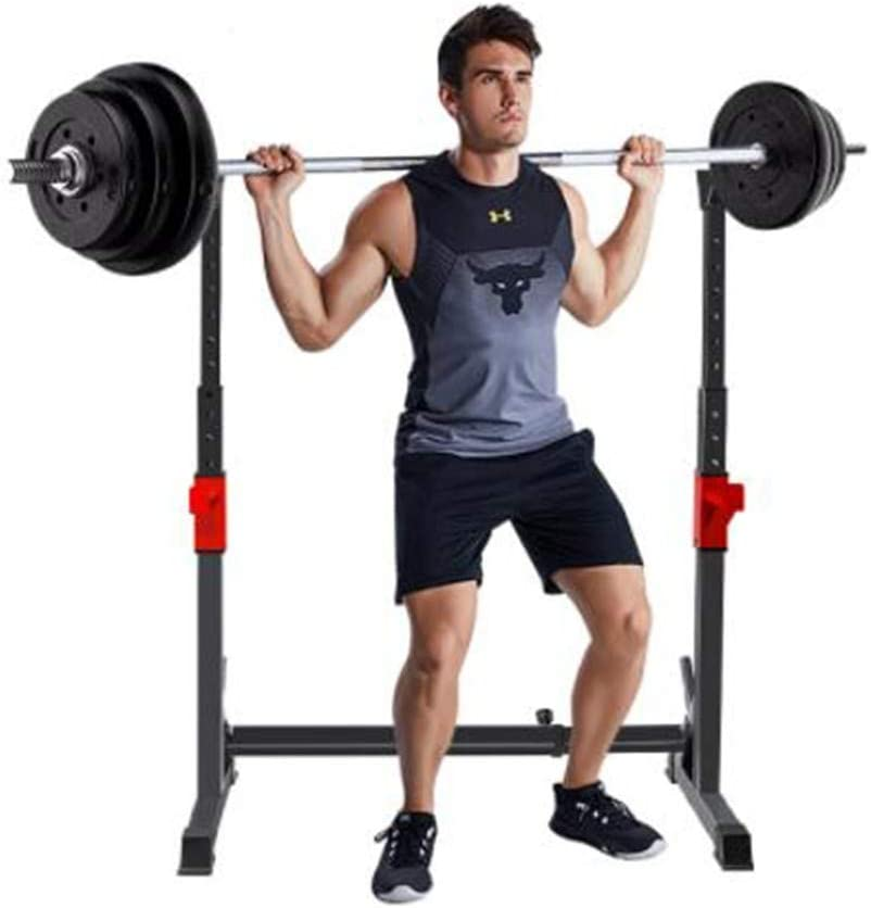enoche Adjustable weight rack gym squat barbell bar power stand Multifunction barbell bar stand 260kg Max Load Holder Weightlifting Stand Fitness Home