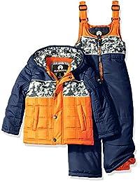 Weatherproof boys Toddler Boys Puffer Jacket and Matching Bib Overalls