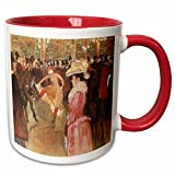 Ball at the Moulin Rouge by Henri De Toulouse-Lautrec Mug is available in both 11 oz and 15 oz. Why drink out of an ordinary mug when a custom printed mug is so much cooler? This ceramic mug is lead free, microwave safe and FDA approved. Image is pri...