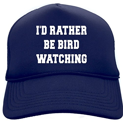 Diva Joy ID RATHER BE BIRDWATCHING Navy Retro Cap Foam Baseball Trucker Hat
