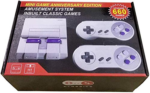 Mini Classic Game Consoles Mini Retro Game Consoles Built-in 660 Games Video Games Handheld Game Player (AV Out Cable 8-Bit) Bring You Happy Childhood Memories from HAPPY BOY