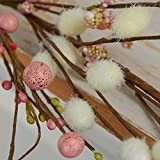 52 Inch Long Sweet Artificial Cherry Blossom and Mixed Berry Decorative Garland for Home Decor, and Displaying