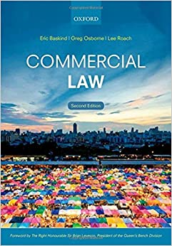 Book Commercial Law by Eric Baskind (2016-03-17)