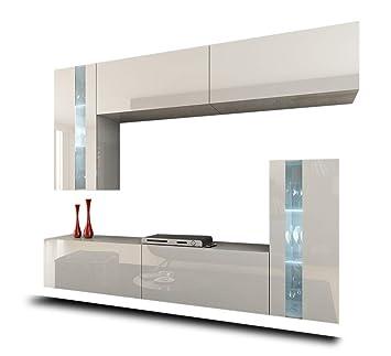Elegant HomeDirectLTD Future 30 Moderne Wohnwand, Exklusive Mediamöbel, TV Schrank,  Schrankwand, TV