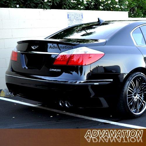 (Advan-Emotion for Hyundai Genesis Sedan 09-11 ABS Trunk Rear Lip Spoiler Unpainted Primer )