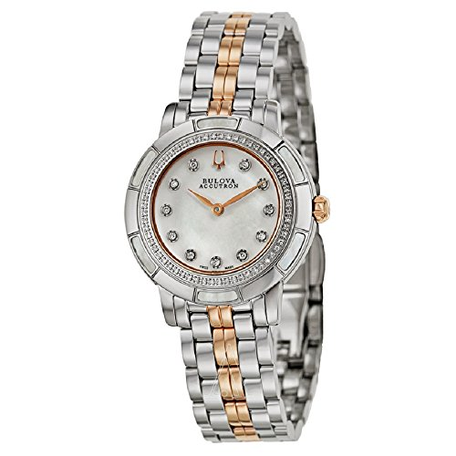 Accutron Ladies Swiss - Bulova Accutron Ladies Swiss Made Stainless Steel and Diamond Watch
