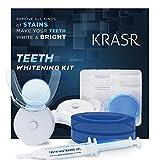 #6: Krasr Teeth Whitening Kit, LED Light, 35% Carbamide Peroxide, (2) 5ml Gel Syringes, Tray and Case