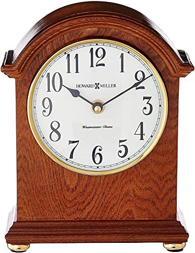 Howard Miller Myra Mantel Clock 635-121 Oak Yorkshire Wood Quartz Single Chime Movement