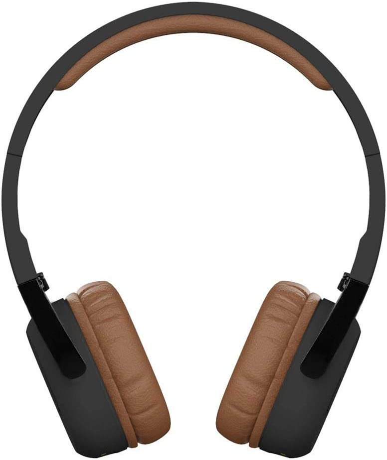 Lcyus Super Bass Bluetooth Earphone, Wireless On Ear Headphones with Mic Audio Superior Sound Sweatproof Headphones (Brown)