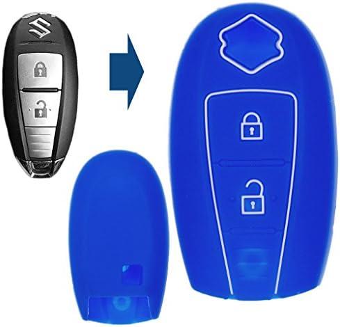 Soft Case Schutz Hülle Auto Schlüssel Smartkey Blau Für Suzuki Swift Vitara Ignis Jimny Baleno Sx4