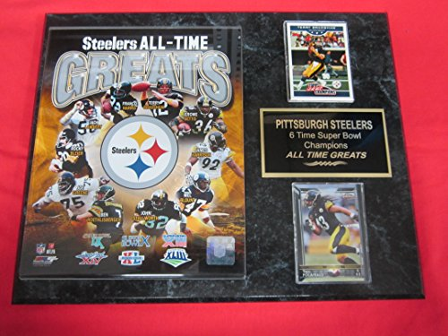Pittsburgh Steelers All Time Greats 2 Card Collector Plaque w/8x10 Photo