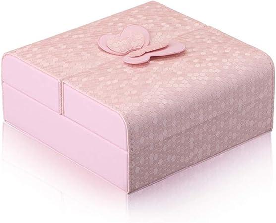 boite bijoux rose compact