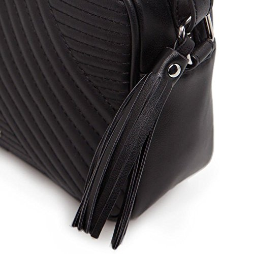 Fashion Womens Shoulder Leather Satchel Handbag Two Color Bag Tote Messenger Crossbody Bag - Outlet Card Coupons Factory