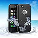 Waterproof Apple iPod Touch 5th Generation Case, Comsoon(TM) Waterproof Heavy Duty Defender iPod Touch 5 Case, iPod 5 Cases For Boys Girls Kids, Built-in Touch Screen Protector for Better Shockproof Dirtproof Snowproof Dustproof Kickstand (Black)