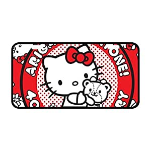 Hello Kitty Design Novelty Front License Plate Decorative Custom Metal Car Tag 11.8 x 6.1 Inch