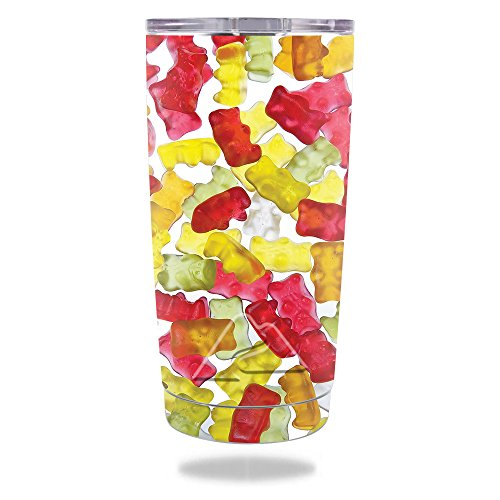 MightySkins Skin For Ozark Trail 20 oz Tumbler (2017) - Gummy Bears | Protective, Durable, and Unique Vinyl Decal wrap cover | Easy To Apply, Remove, and Change Styles | ()