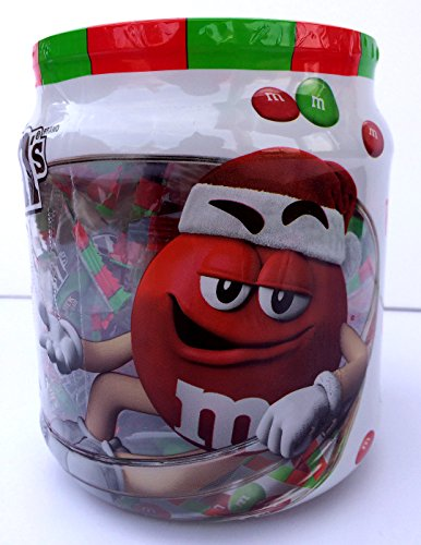 M&Ms Red and Green Candy Bowl Mini Snack Packs – Christmas M&M's - 11 oz. Jar, Approx. 42 packs (M & M Gift Baskets)