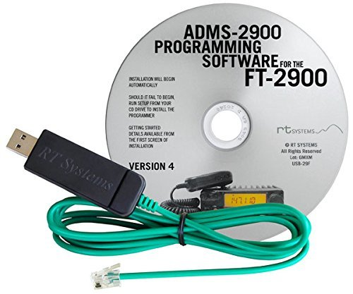 RT Systems Original ADMS-2900 USB Programming Software (Version 5 0) with  USB-29F USB to 6-pin Modular Plug