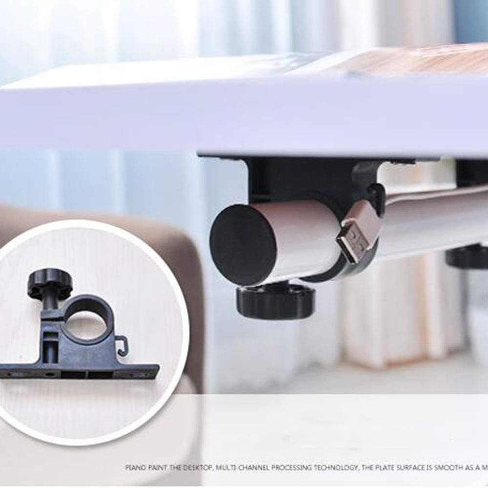 AA-SS-Over-Bed Tables La Tabla Completamente Ajustable de la Cama y de la Silla de la Salud Ajustable curvó sobre la Tabla de la Cama/de la Silla con bloqueable Negro1