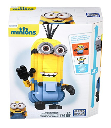 Mega Bloks CNF59 Monster Build A Minion Toy, Tri-Indigo,Yellow, 0