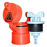 Vented Locking Well Cap: Orange gripNlock