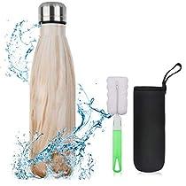 flintronic Botella Termica, 500ML Botella de Agua de Acero Inoxidable, Aislamiento de Vacío de Doble Pared, Botellas de