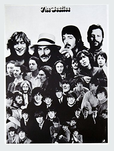The Beatles 1962-1966 1967-1970 Album Promo 1973 Vintage B/W Poster 18 x (1968 Promo Poster)