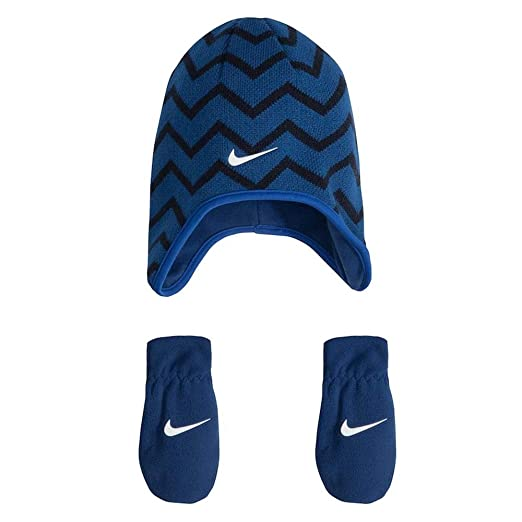 0c588e44471 Amazon.com  Nike Baby Girls  2-Piece Beanie   Mittens Set  Sports   Outdoors