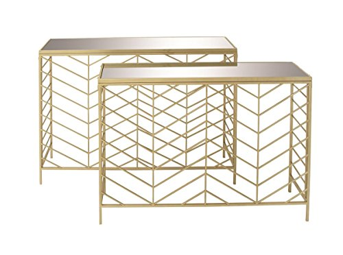 Glass Set Console Table - 8