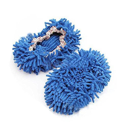 Single Chenille Blau Heiß Wipe Schuhe Shoe Set Hausschuhe Mop Yanhoo Mop Lazy Caps Damenmode Schuhe gUgqptw
