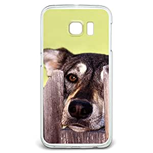 Dog Looking Through Fence - The Other Side Snap On Hard Protective Case for Samsung Galaxy S6 Edge