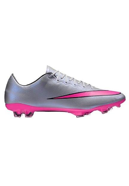 b51e0f589ac4a Nike Mercurial Vapor X FG Soccer Cleat (Wolf Grey, Hyper Pink) Sz. 6 ...