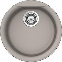 Schock EURR100U042 Euro Series Cristalite Dual Mount Round Bar/Prep Sink, Concrete