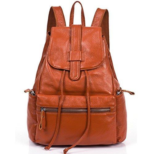 Coofit ® Damen Weinlese Echt Leder Rucksack Tragetasche Reise Shopper Schulter Tasche