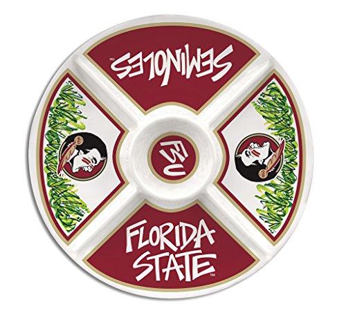Florida State University Melamine Divided Veggie Platter