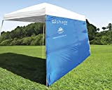 ezShade 10'x10' Angled Leg Canopy Sidewall -Blocks 99% UVA/UVB Keeps You Cooler, Doubles Your Shade & Instantly Attaches to Any Nylon/Poly 10' Angled Leg Canopy - Canopy Not Included