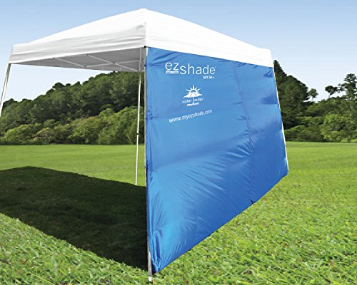 ezShade 10'x10' Angled Leg Canopy Sidewall -Blocks 99% UVA/UVB Keeps You Cooler, Doubles Your Shade & Instantly Attaches to Any Nylon/Poly 10' Angled Leg Canopy - Canopy Not Included ()
