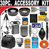 30 PC ULTIMATE MONSTER SUPER SAVINGS DELUXE DB ROTH ACCESSORY KIT, INCLUDES LENSES, FILTERS, VIDEO LIGHT, ACCESSORIES AND MUCH MOREFor The JVC Everio GZ-MC100, MC200, MC500 Microdrive Camcorders!