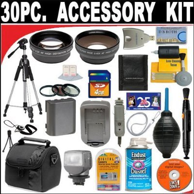 30 PC ULTIMATE MONSTER SUPER SAVINGS DELUXE DB ROTH ACCESSORY KIT, INCLUDES LENSES, FILTERS, VIDEO LIGHT, ACCESSORIES AND MUCH MORE! For The Panasonic HDC-SD10K (SD10), HDC-TM10K (TM10), HDC-TM15K (TM15) HD Camcorder (Sd10 Hd Camcorder)
