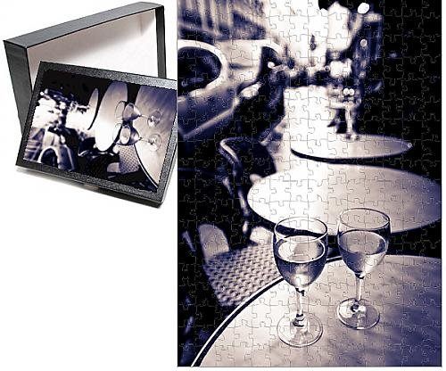 Photo Jigsaw Puzzle of Wine glasses at an outdoor cafe, Paris, France (French Outdoor Furniture Australia)