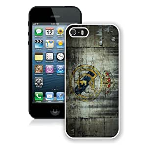 Real Madrid 3 White Case for iPhone 5S,Prefectly fit and directly access all the features